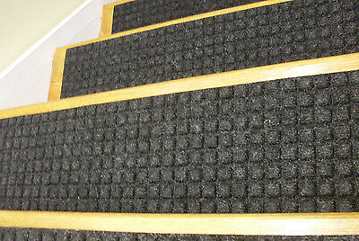 13 Step 100% Indoor Outdoor Stair Treads Non Slip Staircase Rubber Choice  Size