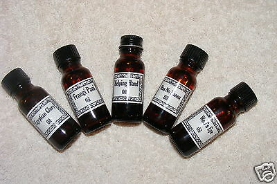 Set of 5 Powerful Voodoo & Hoodoo Oils- Santeria, Wicca, Gothic, Reiki