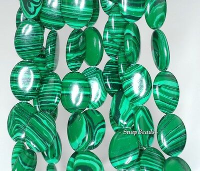 HEDGE MAZES MALACHITE GEMSTONE GREEN OVAL 10X8MM LOOSE BEADS 15.5/""