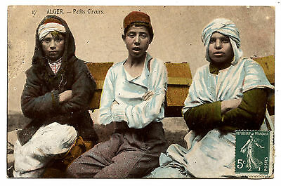 Alger.petits Cireurs.little Shoeshine Boys.
