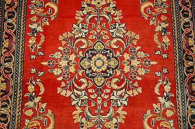 c1930s ANTIQUE HIGHLY DETAILED FINE KORK WOOL PERSIAN SAROUK RUG 2.7x4.4 BEAUTY