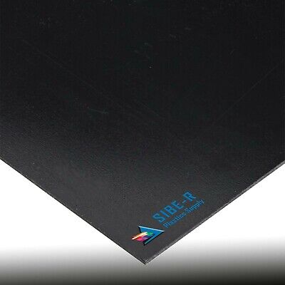 "5 Pack Black Kydex T Plastic Sheet 0.060"" X 12"" X 12"" Vacuum Forming"