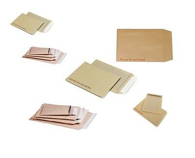 "CARDBOARD ENVELOPES Strong Board Backed Back ""Please Do Not Bend"" Rigid Card"
