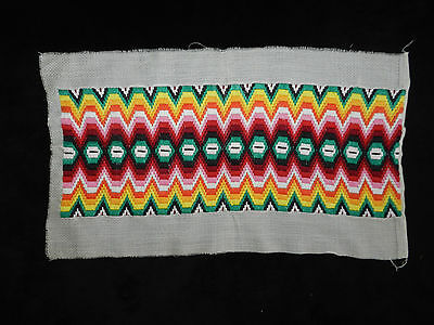 """antique hand embroidered Bargello motif  Dimensions  19.3""""/7.2""""   n4717"""