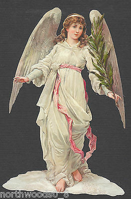 Angel Palm  Robe Floral Embossed Victorian Diy Banner Paper  Supplies Ornament