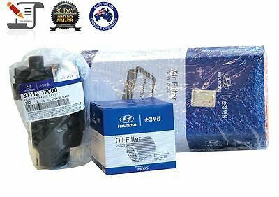 Genuine Hyundai Getz Air Oil Fuel Filter Pack Kit (Tax Invoice - Gst Included)