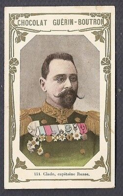 CLADO - - CAPITAINE RUSSE  - -  Chromo GUERIN BOUTRON - Trade Card