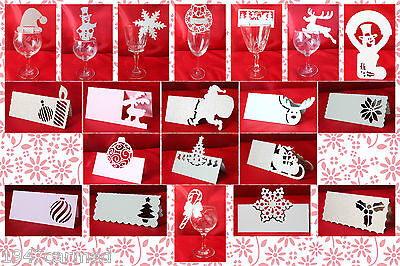 CRAFT ROBO/SILHOUETTE Christmas Place card templates CD125 by cocopopart