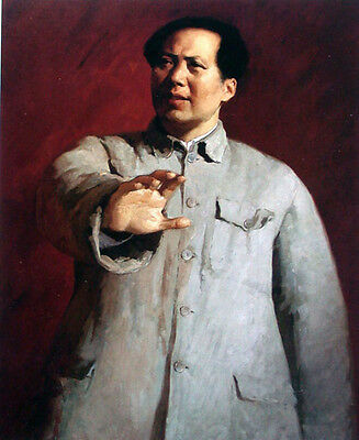 Beautiful Oil painting portrait China's great leader Chairman Mao on canvas