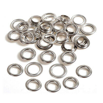 50 x 16mm, 18mm or 20mm Silver Eyelets with Washers - for Banners - UK Seller