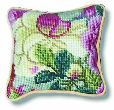 Tramme Tapestry/Needlepoint Kit - Rampant Pink/Blue Floral 1