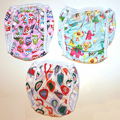 1 x SWIM NAPPY Baby Reusable Multifit Newborn - Toddler Nappies Swimmers Cover