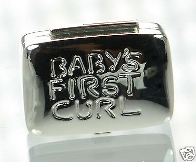 Solid 925 Sterling Silver Baby's First Curl Box