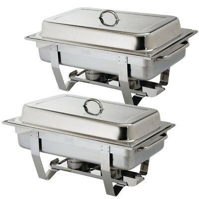 Pack Of 2 Premium Quality S/Steel Chafing Dish Sets ***Free Next Day Delivery***