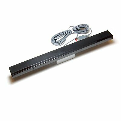 ZedLabz wired sensor bar for Nintendo Wii infrared ray LED motion + stand black