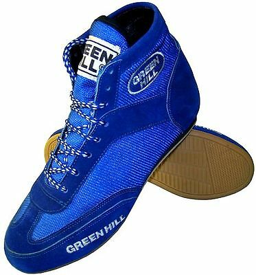 Greenhill boxing shoes professional suede leather sport boots light weight mesh