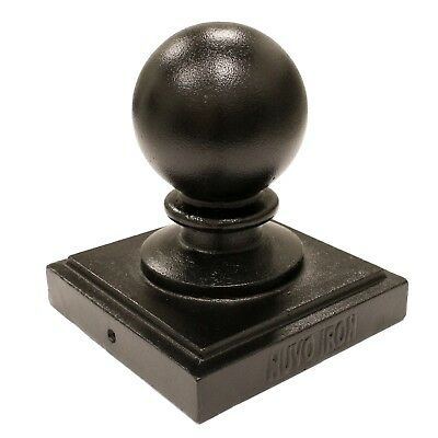 "Nuvo Iron 5.5""x 5.5"" (nominal 6""x 6"") BALL POST CAP PCB04 black fence decorative"