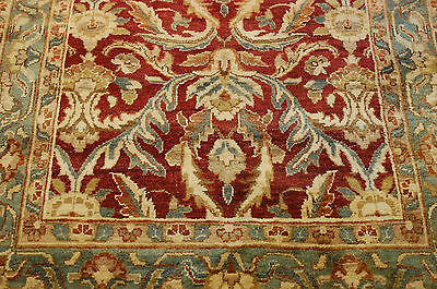 c1950s ANTIQUE DECORATIVE INDIAN AGRA RUG 4x11.10 FOYER_GALLERY SIZE_TRUE BEAUTY