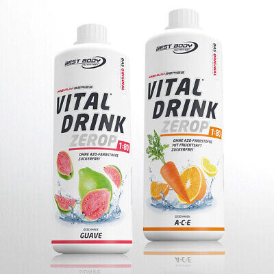 10,00€/Ltr Best Body Nutrition 2 x 1 Liter Low Carb Vital Drink Mineraldrink !