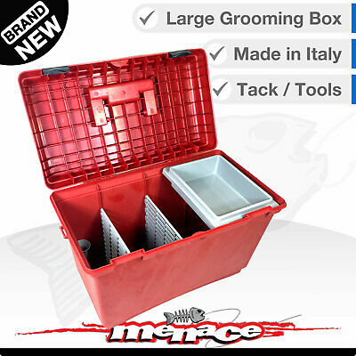 Horse / Pony Stable Kit Tack Box - Pet / Grooming Tool Boxes Equestrian - Red