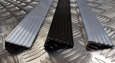Aluminium Stair Nosing - Ribbed Fluted Angle - Heavy Duty -  Anti Slip Edging