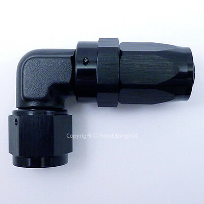 AN -10 AN10 BLACK JIC 90 Degree Swivel FORGED FAST FLOW Braided Hose Fitting
