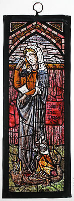 Stained Glass, Miniature window, The Lady & Dragon, 75mm x 210mm approx, 13S133