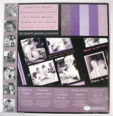 "CREATIVE MEMORIES 12"" Photo Mounting Paper ""Perfect Fit Purples"" - 10 Sheets"