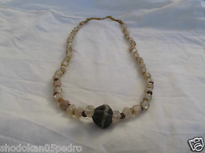 Iran 2-3 century A.D. amber colored glass necklace • CAD $1,003.36