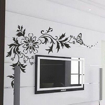 $99 Flower Floral Butterfly Removable Decor Art Mural SL7032 Wall Sticker Decal