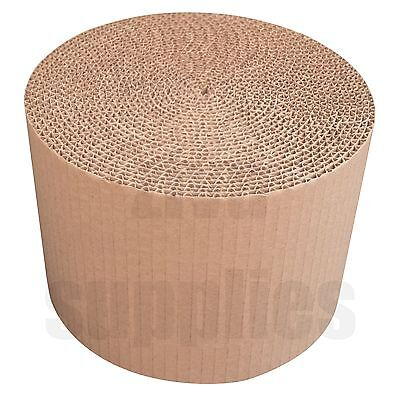 """150 mm/6"""" Wide CORRUGATED CARDBOARD Strong Brown Kraft Paper Rolls for Packing"""
