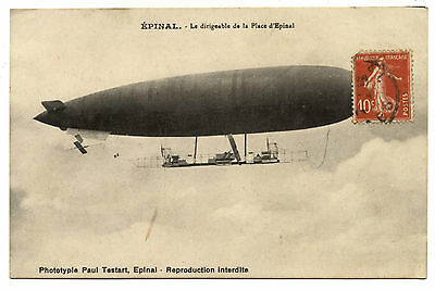 Dirigeable De La Place D'epinal.airship The Place Of Epinal.lorraine.