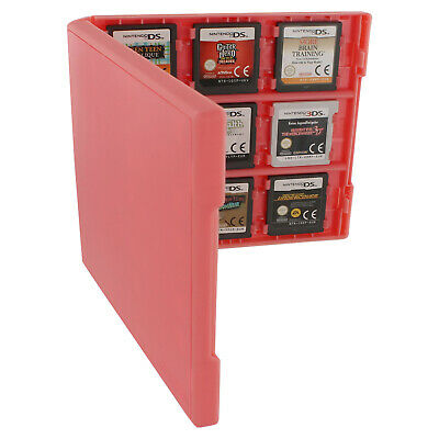 Assecure 18 game card case for Nintendo 3DS & DS holder storage travel box pink