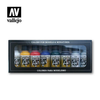 AIRBRUSH PAINTS - VALLEJO MODEL AIR BASIC COLOR KIT (8 x 17ML BOTTLES) - 71.174