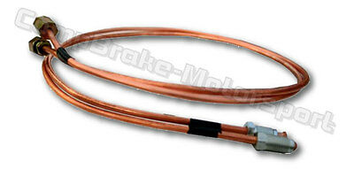 Hydraulic handbrake Feed Pipes and unions  2ft long