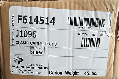 (25) Maclean Power Systems J1096 cable suspension clamps NIB!
