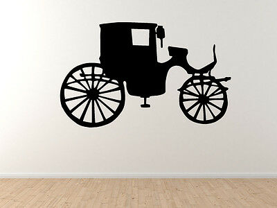 Horse Drawn Coach Classic Transport Vintage Carriage #2 Vinyl Wall Decal