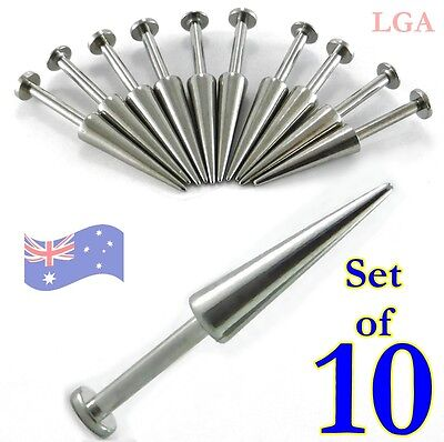 LABRET AWESOME SPIKE x 10 14g 8mm FREE POSTAGE labret lip bar body piercing A