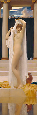 Dream-art Oil painting Bathing Psyche - Nude young nice girl before bathing art