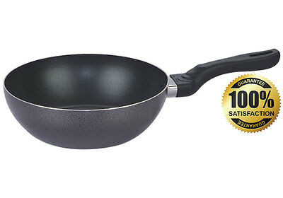 Non Stick Wok Stir Fry Deep Frying Pan Skillet 26cm 28cm 30cm by Kitchen King®