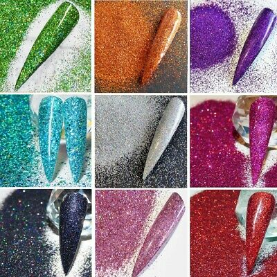 Holographic Glitter In Various Colours 008  Fine Nail Art & Craft Glitter