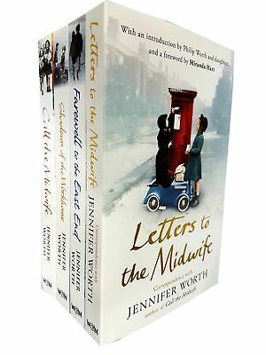 Jennifer Worth Collection 4 Books Series Set(Farewell To The East End,Call The M