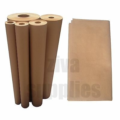 WRAPPING PARCEL PAPER-Brown Kraft in Short Lengths Sheets/Folded or on a Roll