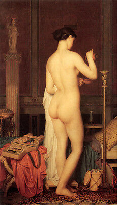 Oil painting charles gleyre - beauty nude young woman In the bedroom only canvas