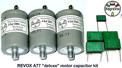 """REVOX A77 TAPE PARTS - NEW - """"deluxe"""" Motor Capacitor Set for A77"""