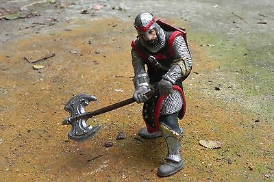Retired Schleich Medieval Dragon Knight with Axe Figurine