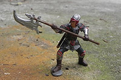 Medieval Dragon Knight with Pole-arm Figurine