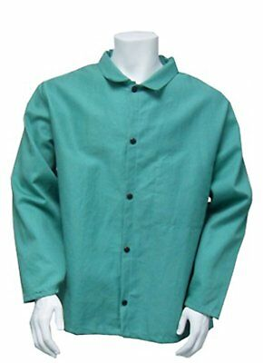 """Chicago Protective Apparel 30"""" FR 100% Cotton Green Welding Coat/Jacket Large"""