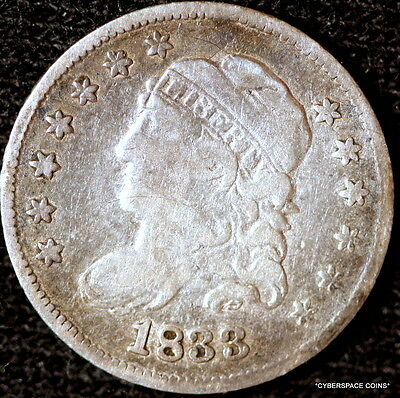 1833 Nice Grade Early Capped Bust Liberty Half Dime!! D0500