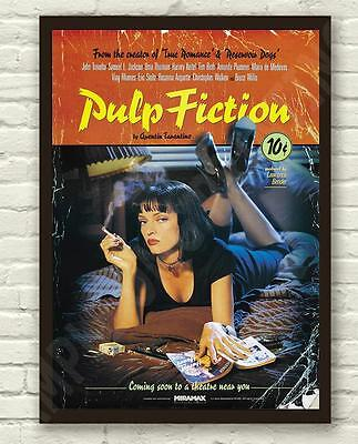 Tarantino's Classic Pulp Fiction Movie Film Poster / Print / Picture A3 A4 Size